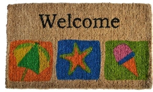 Imports-Dcor-Decorated-Coir-Doormat-Welcome-Beach-18-by-30-Inch-0 Beach Doormats and Coastal Doormats