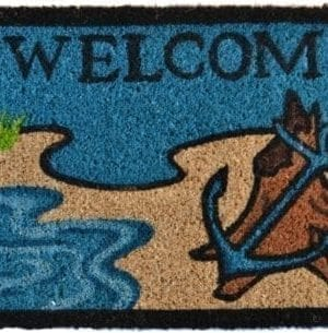 Imports Decor Printed Coir Doormat Beach Lighthouse 18 Inch By 30 Inch 0 300x305