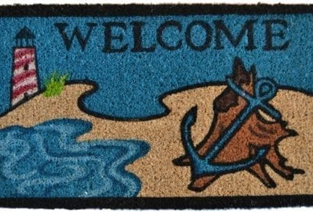 Imports-Decor-Printed-Coir-Doormat-Beach-Lighthouse-18-Inch-by-30-Inch-0-450x305 Beach Doormats and Coastal Doormats