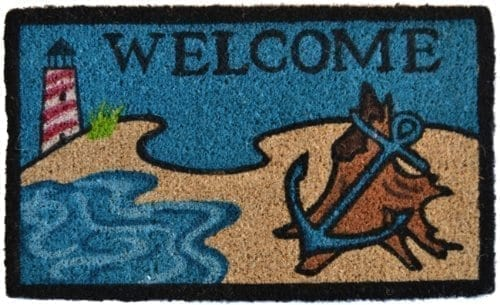 Imports Decor Printed Coir Doormat Beach Lighthouse 18 Inch By 30 Inch 0