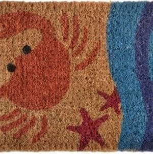 Imports Decor Printed Coir Doormat Crab 18 Inch By 30 Inch 0 300x303