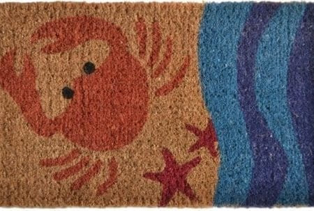 Imports-Decor-Printed-Coir-Doormat-Crab-18-Inch-by-30-Inch-0-450x303 Beach Doormats and Coastal Doormats