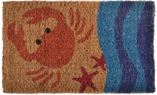 Imports Decor Printed Coir Doormat Crab 18 Inch By 30 Inch 0