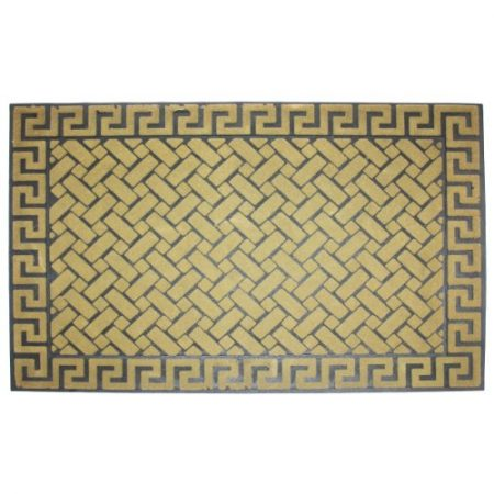 J-M-Home-Fashions-Greek-Key-Beige-Crumb-Rubber-Solid-Flocked-Doormat-24-Inch-by-36-Inch-0-450x450 Beach Doormats and Coastal Doormats