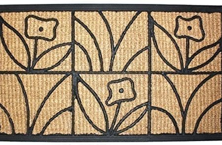 J-M-Home-Fashions-Light-Daisy-Natural-Coir-and-Rubber-Doormat-18-Inch-by-30-Inch-0-450x294 Beach Doormats and Coastal Doormats