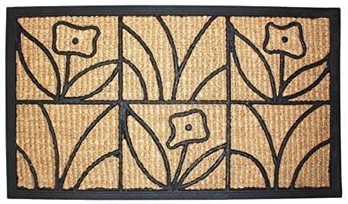 J-M-Home-Fashions-Light-Daisy-Natural-Coir-and-Rubber-Doormat-18-Inch-by-30-Inch-0 Beach Doormats and Coastal Doormats