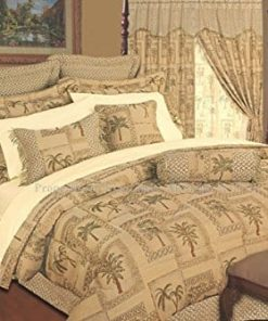 Kinglinen-9-Piece-Tapestry-Palm-Bedding-Comforter-Set-0-247x296 The Best Palm Tree Bedding and Comforter Sets