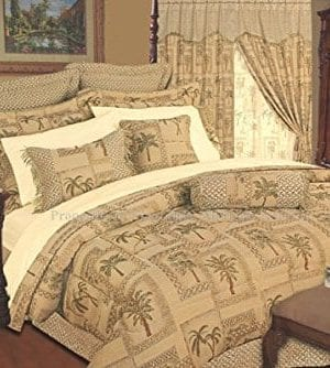 Kinglinen 9 Piece Tapestry Palm Bedding Comforter Set 0 300x334