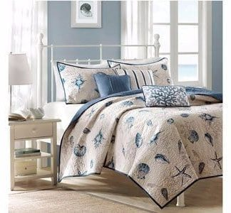 Madison-Park-Bayside-6-Piece-Coverlet-Set-0-324x300 Coastal Bedding Sets and Beach Bedding Sets