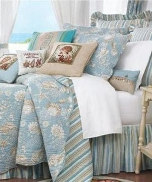 Natural-Shells-90-x-92-FullQueen-Quilt-0-300x360 200+ Coastal Bedding Sets and Beach Bedding Sets