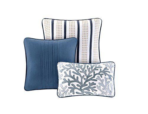 Seashell Beach House Nautical King Quilt Shams Toss Pillows 6 Piece Bedding 0 0