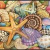 Toland Home Garden Shells Of The Sea 18 X 30 Inch Decorative USA Produced Standard Indoor Outdoor Designer Mat 800033 0 100x100