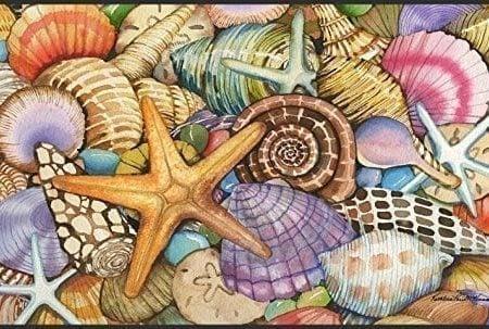 Toland-Home-Garden-Shells-of-The-Sea-18-x-30-Inch-Decorative-USA-Produced-Standard-Indoor-Outdoor-Designer-Mat-800033-0-450x303 Beach Doormats and Coastal Doormats