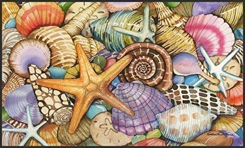 Toland Home Garden Shells Of The Sea 18 X 30 Inch Decorative USA Produced Standard Indoor Outdoor Designer Mat 800033 0