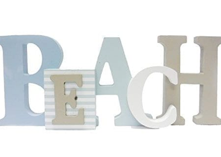 1-X-Beach-Word-Sign-Tropical-Beach-Decor-Great-for-Office-Table-Top-or-Wall-Hanging-125-Long-5-Tall-0-450x320 Wooden Beach Signs and Coastal Wood Signs
