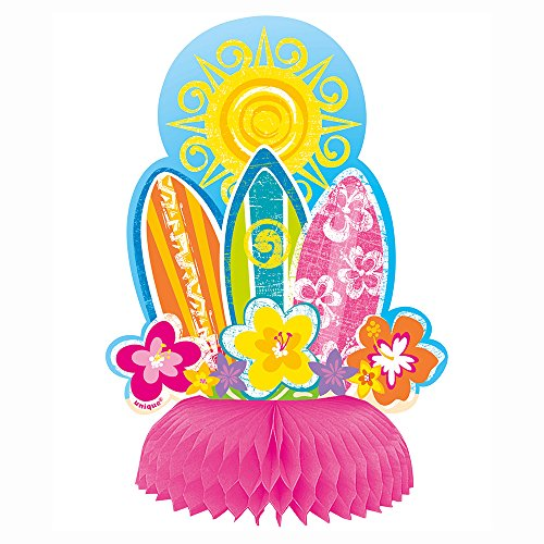 6 Honeycomb Hula Girl Luau Party Decorations 4ct 0 0