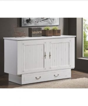 Arason Enterprises Creden ZzZ Queen Cabinet Bed In Cottage White 0 0 300x360