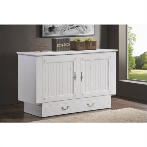 Arason Enterprises Creden ZzZ Queen Cabinet Bed In Cottage White 0 0