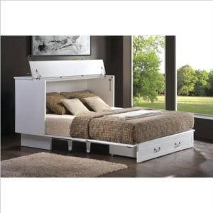 Arason Enterprises Creden ZzZ Queen Cabinet Bed In Cottage White 0 300x300