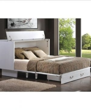 Arason Enterprises Creden ZzZ Queen Cabinet Bed In Cottage White 0 300x360