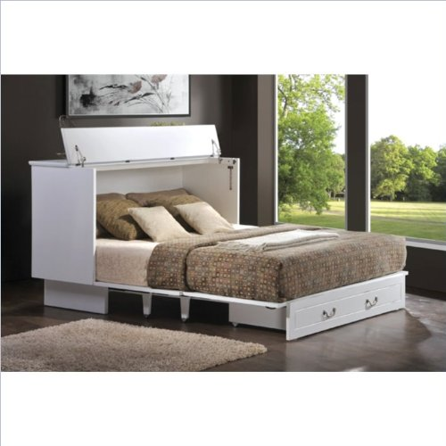 Arason Enterprises Creden ZzZ Queen Cabinet Bed In Cottage White 0