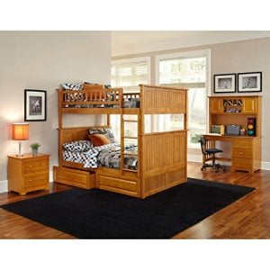 Atlantic Furniture Nantucket Full Over Full Bunk Bed With A Raised Panel Trundle Bed 0 0 300x300