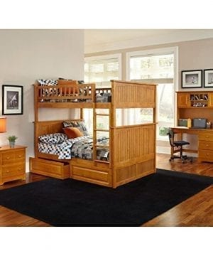Atlantic Furniture Nantucket Full Over Full Bunk Bed With A Raised Panel Trundle Bed 0 0 300x360