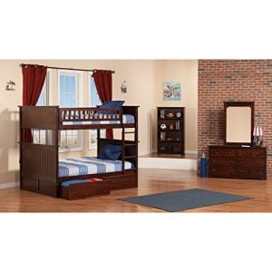 Atlantic Furniture Nantucket Full Over Full Bunk Bed With A Raised Panel Trundle Bed 0 1 300x300