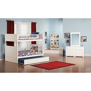 Atlantic Furniture Nantucket Full Over Full Bunk Bed With A Raised Panel Trundle Bed 0 2 300x300