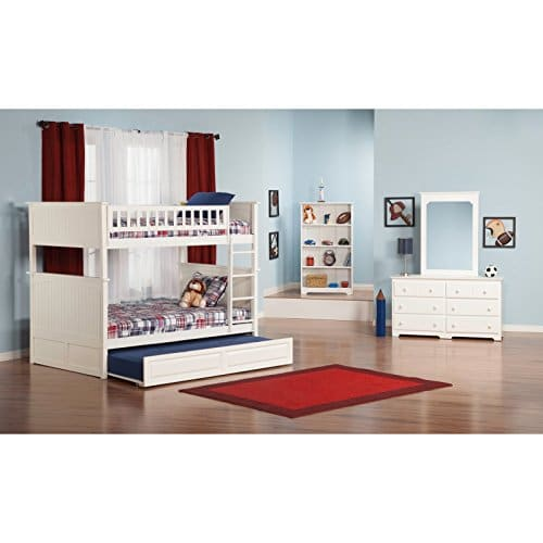 Atlantic Furniture Nantucket Full Over Full Bunk Bed With A Raised Panel Trundle Bed 0 2