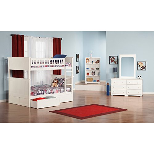 Atlantic Furniture Nantucket Full Over Full Bunk Bed With A Raised Panel Trundle Bed 0 3