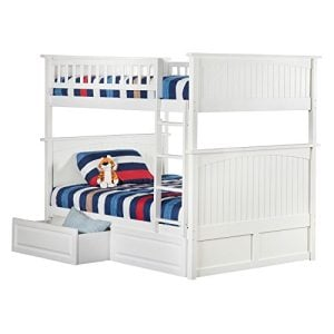 Atlantic Furniture Nantucket Full Over Full Bunk Bed With A Raised Panel Trundle Bed 0 300x300