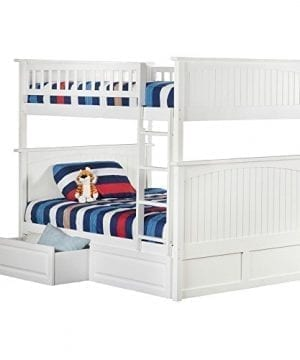 Atlantic Furniture Nantucket Full Over Full Bunk Bed With A Raised Panel Trundle Bed 0 300x360