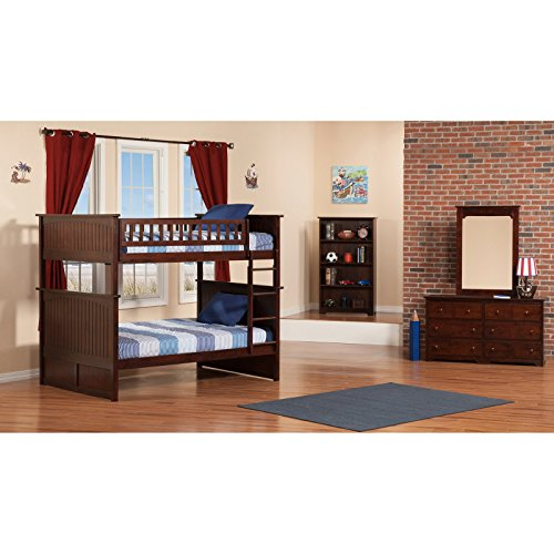 Atlantic Furniture Nantucket Full Over Full Bunk Bed With A Raised Panel Trundle Bed 0 4