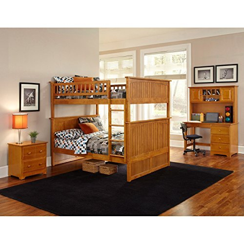Atlantic Furniture Nantucket Full Over Full Bunk Bed With A Raised Panel Trundle Bed 0 6