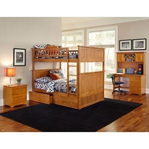 Atlantic Furniture Nantucket Full Over Full Bunk Bed With A Raised Panel Trundle Bed 0 7 300x300