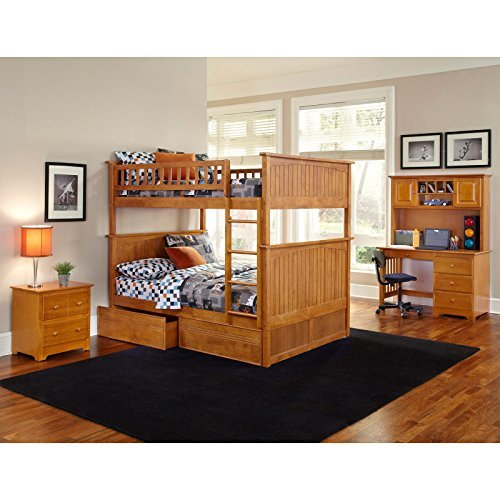 Atlantic Furniture Nantucket Full Over Full Bunk Bed With A Raised Panel Trundle Bed 0 7