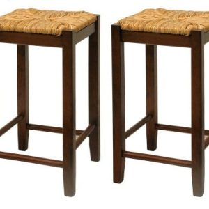 Bar-Stool-24-Inch-Rush-Seat-Walnut-Finish-S2-Set-Of-Two-0-300x300 Coastal Dining Room Furniture & Beach Dining Furniture