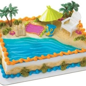 Beach Chair And Umbrella DecoSet Cake Decoration 0 300x300