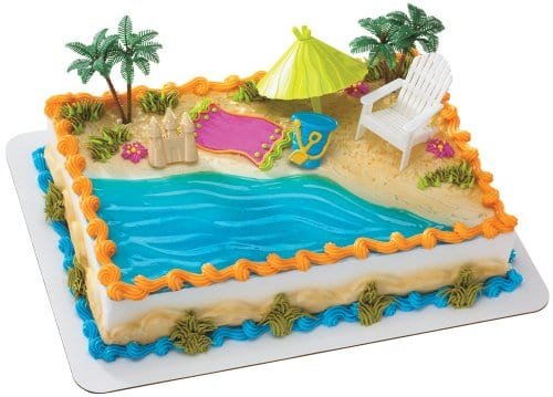 Beach Chair And Umbrella DecoSet Cake Decoration 0