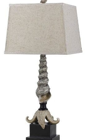 Cal-Lighting-Carapace-Starfish-Table-Lamp-3075-0-277x450 100+ Coastal Themed Lamps
