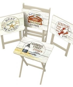 Cape Craftsman TV Tray Set With Stand Nautical Set Of 4 0 300x360