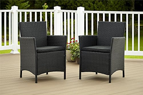Cosco-Dorel-Industries-Outdoor-Jamaica-Resin-Wicker-Dining-Chair-Charcoal-with-Cushions-Set-of-2-0 Wicker Chairs