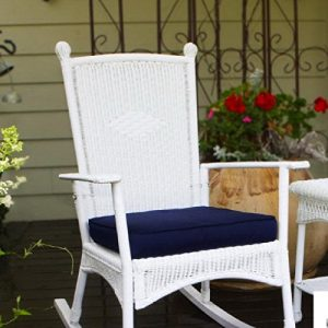 Costal White All Weather Wicker Deep Cushioned Seat Outdoor Rocking Chair 0 300x300
