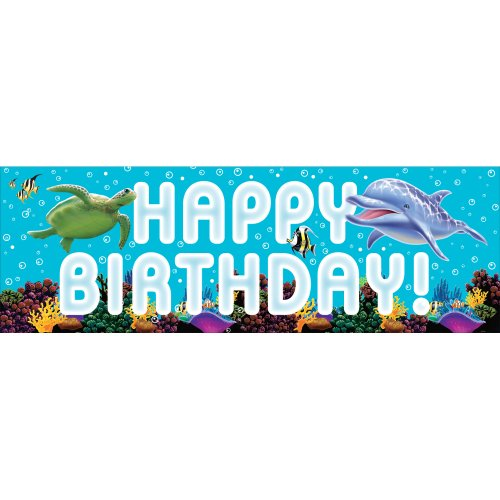 Creative Converting Ocean Party Giant Party Banner 60 Inch 0