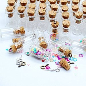 Eforstore 50pcs 05ml Vials Clear Glass Bottles With Corks 10pcs Eye Screws Miniature Glass Bottle With Cork Empty Sample Jars Small 18x10mm 0 0 300x300