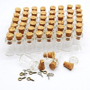 Eforstore 50pcs 05ml Vials Clear Glass Bottles With Corks 10pcs Eye Screws Miniature Glass Bottle With Cork Empty Sample Jars Small 18x10mm 0 300x300