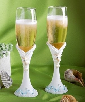 Finishing Touches Collection Beach Themed Champagne Flutes 0 300x360