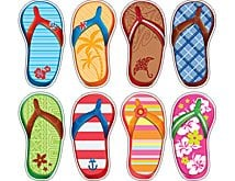 Flip Flop Accents and Flip Flop Decor