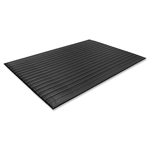 Genuine Joe Anti Fatigue Mat Beveled Edge 2 By 3 Feet Black 0